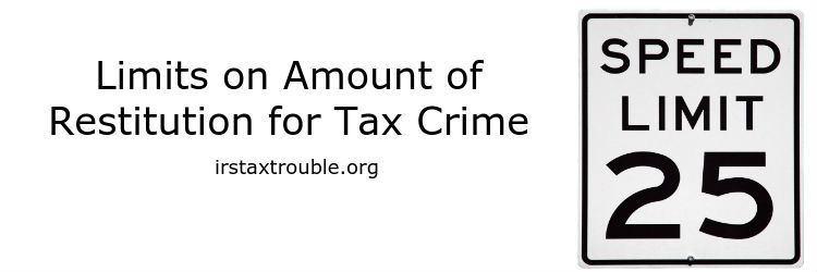 criminal tax restitution attorney